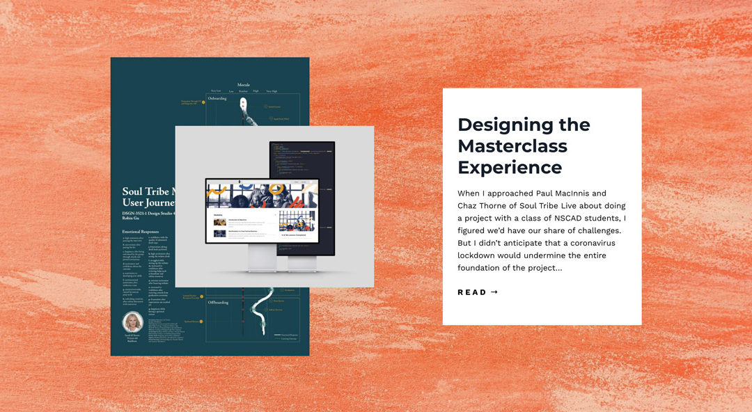 Designing the Masterclass Experience (with a side of COVID19)